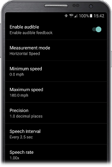 Audible settings